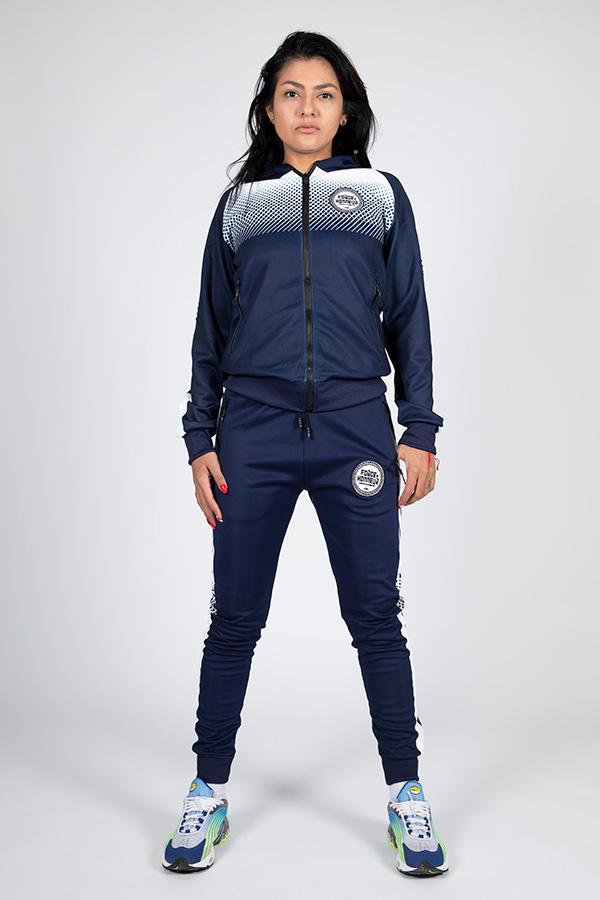 Jogging femme bleu 12