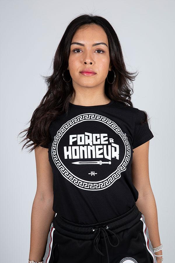 T-shirt femme noir Logo