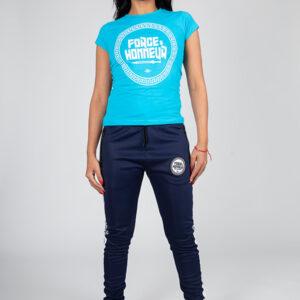T-shirt femme bleu ciel Logo 2