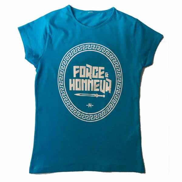T-shirt femme bleu ciel