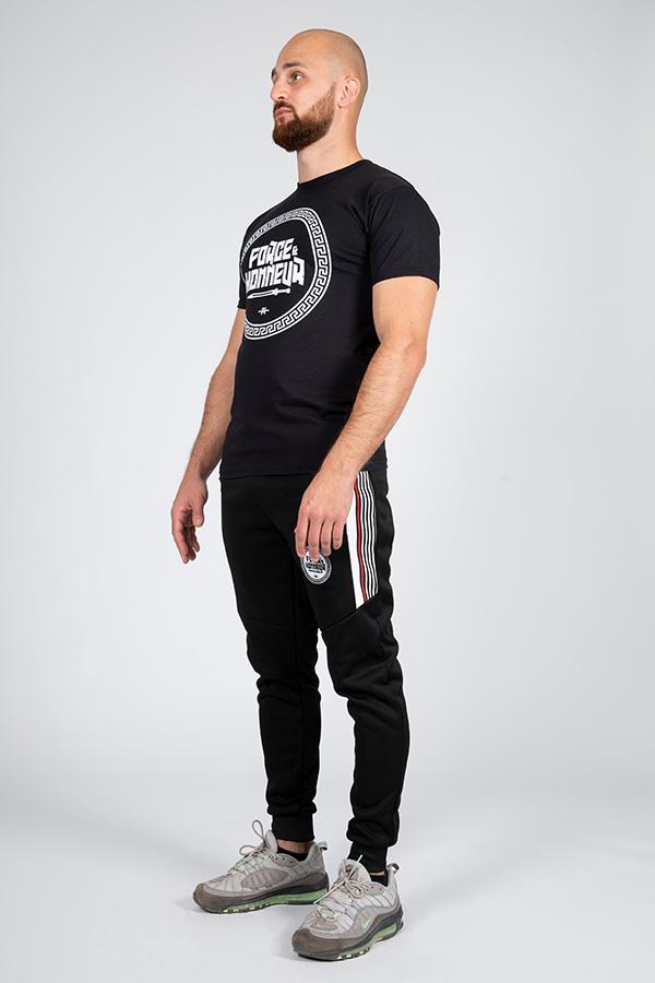 T-shirt noir logo 6