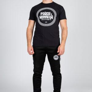 T-shirt noir logo Force & Honneur Brand 9